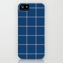 Plaid Blue and White iPhone Case