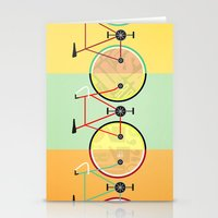 bikes Stationery Cards featuring Bikes by KateWadsworth