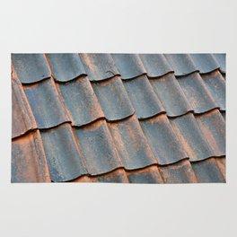 Old tile roof Rug