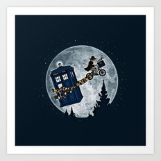 Tardis in the sky Art Print