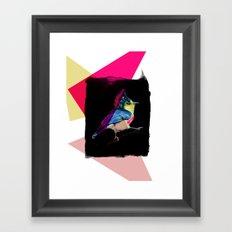Neon Bird Framed Art Print