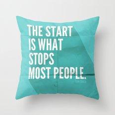 The Start Throw Pillow