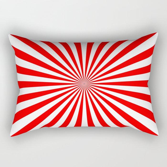 Starburst (Red/White) Rectangular Pillow