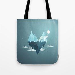 Low Poly Polar Bear Tote Bag