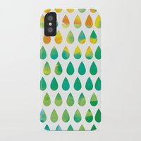 rain iPhone & iPod Cases featuring Monsoon Rain by Picomodi