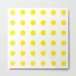 Canary Yellow Metal Print