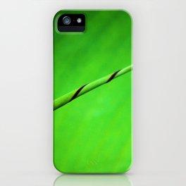 Canna Leaf Spiral Twist iPhone Case