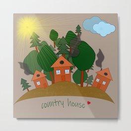Village houses. Metal Print