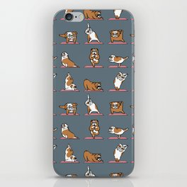 English Bulldog Yoga iPhone Skin