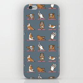 English Bulldog Yoga iPhone Skin