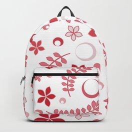 Rose pink floral pattern - summer positive vibes! Backpack