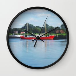 Summer river Wall Clock