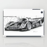 porsche iPad Cases featuring Porsche 962 by sesven