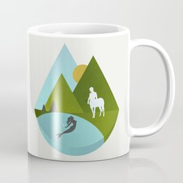 The Mermaid and the Centaur Coffee Mug