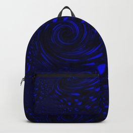 Deep Blue Ocean Waves Backpack