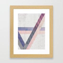 Unespected Geometry Framed Art Print
