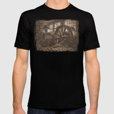 Steam Engine - Sepia Black MEDIUM Mens Fitted Tee