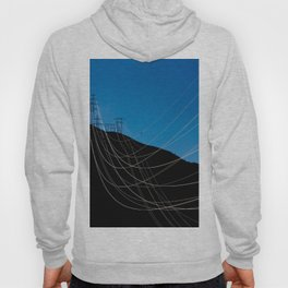 Power Lines Down The Mountain Hoody