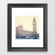Black Cab Framed Art Print
