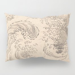 Wave by Katsushika Hokusai 1760–1849, Japanese Pillow Sham