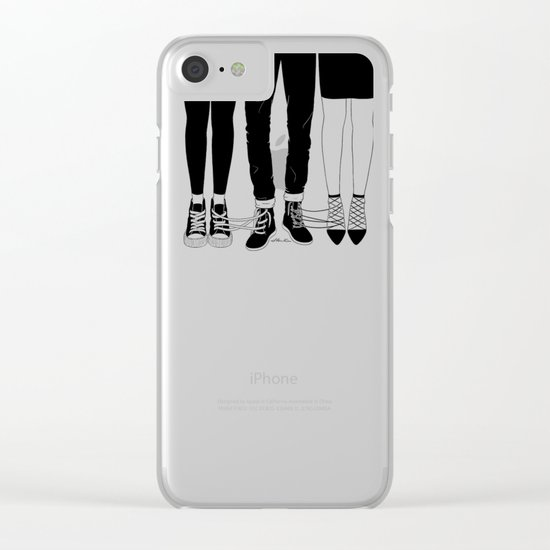 Love Triangle Clear iPhone Case