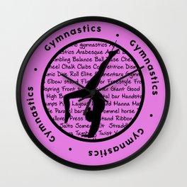 Pink Gymnastic Circle Symbol Wall Clock