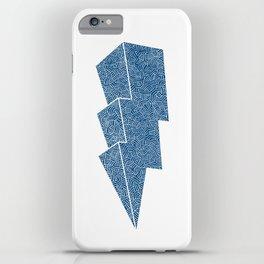 Lightning in Blue iPhone Case