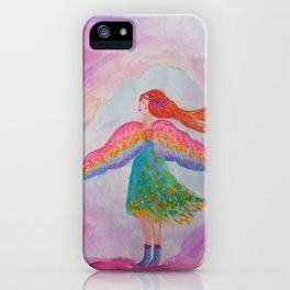 Rainbow Wings iPhone Case