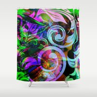 romance Shower Curtains featuring Romance by shiva camille