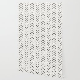 Mud Cloth Big Arrows in Cream Wallpaper
