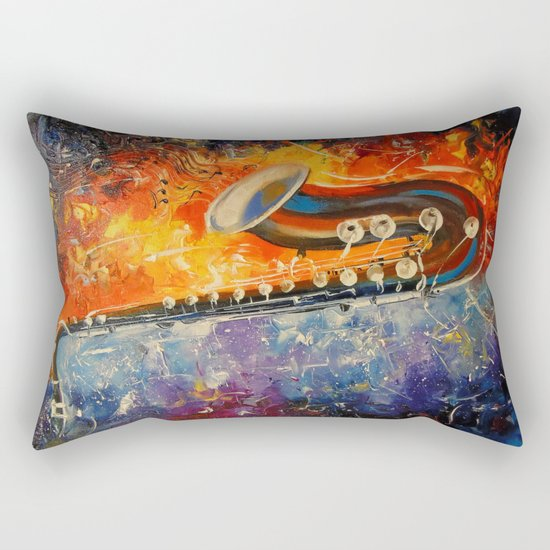 Melody saxophone Rectangular Pillow