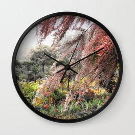 Misty Monet Gardens Wall Clock