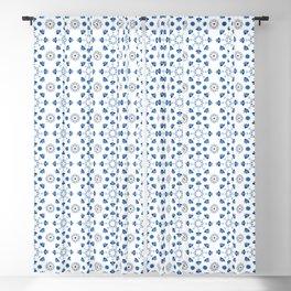 Bathroom Tile Decal Spanish Tiles Blue White Moroccan Tiles Cottage Chic Portuguese tiles Blackout Curtain