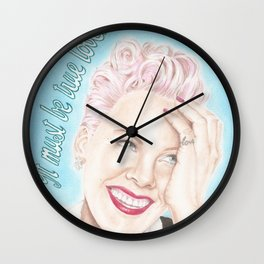 It Must Be True Love Wall Clock