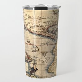 Map Of The Americas 1570 Travel Mug