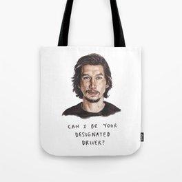 Designated Driver - Funny Adam Driver Illustration Tote Bag