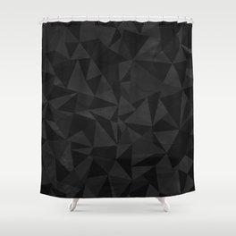 Dirty Dark Geo Shower Curtain