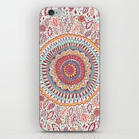 flower iPhone & iPod Skins featuring Sunflower Mandala by Janet Broxon