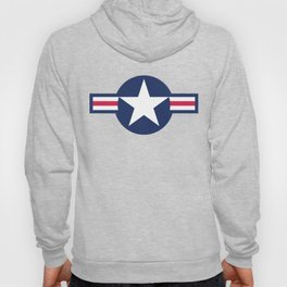 US Airforce style roundel star - High Quality image Hoody