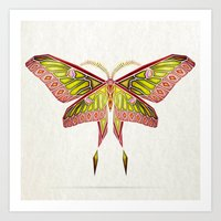 moth Art Prints featuring moth by Manoou