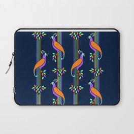 Vintage Art Deco Birds and Stripes Pattern Laptop Sleeve
