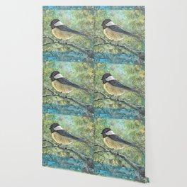 Watercolor Chickadee Wallpaper