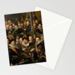 Jan Antonisz van Ravesteyn - Officers of the Orange Flag leaving City Hall Stationery Cards