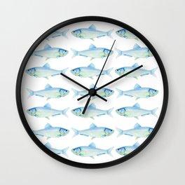 Blue Herrings Wall Clock