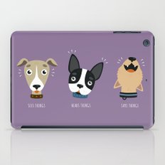 Three wise dogs iPad Case