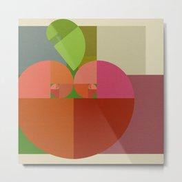 Fibonacci Apple Metal Print