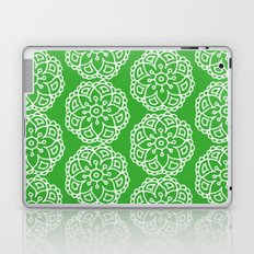 Green white lace floral Laptop & iPad Skin