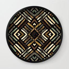 Tribal Abstracts 4 Wall Clock