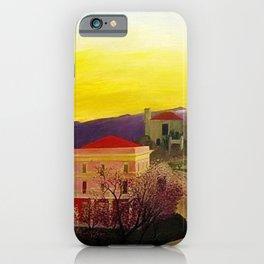 Coast of Sicily and Mount Etna springtime landscape painting by Csontváry Kosztka Tivadar iPhone Case