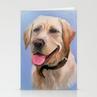 labrador Stationery Cards featuring Labrador by OLHADARCHUK